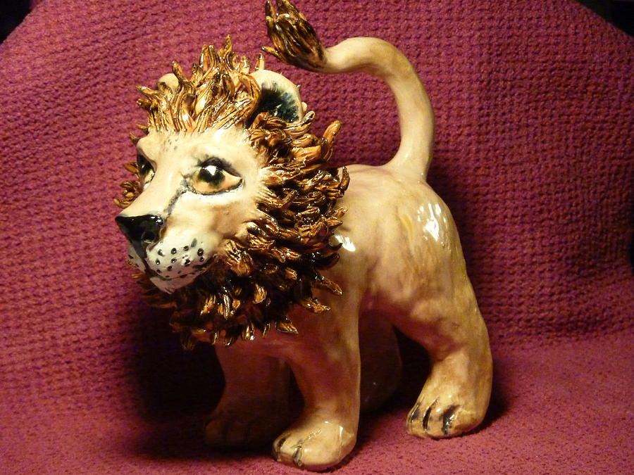 Lion Sculpture - King Of The Beasts by Debbie Limoli