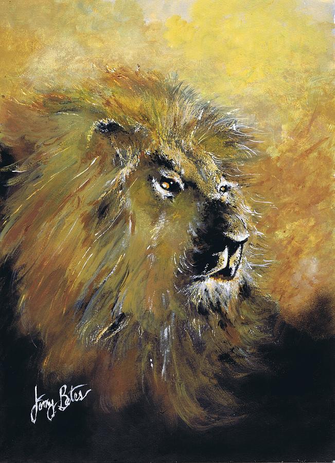 Wood Print Painting Beasts
