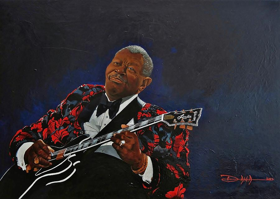 Bb.king Painting - King of the Blues by Dana Newman