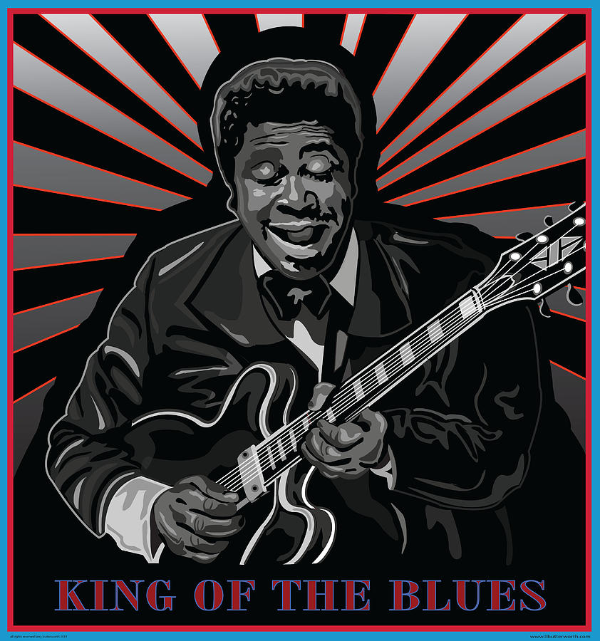 Music Digital Art - King Of The Blues by Larry Butterworth