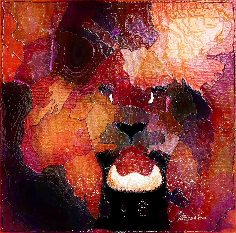 Lion Digital Art - King Of The Jungle-featured In Comfortable Art-faa Gallery Artists Who Create And Wildlife Groups by EricaMaxine  Price