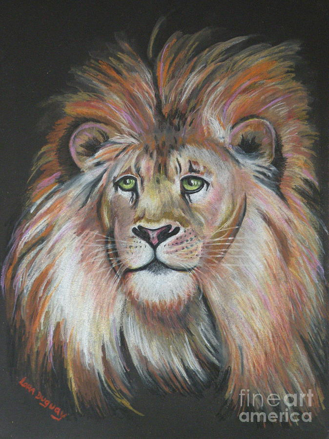 Lion Drawing - King Of The Jungle by Lora Duguay