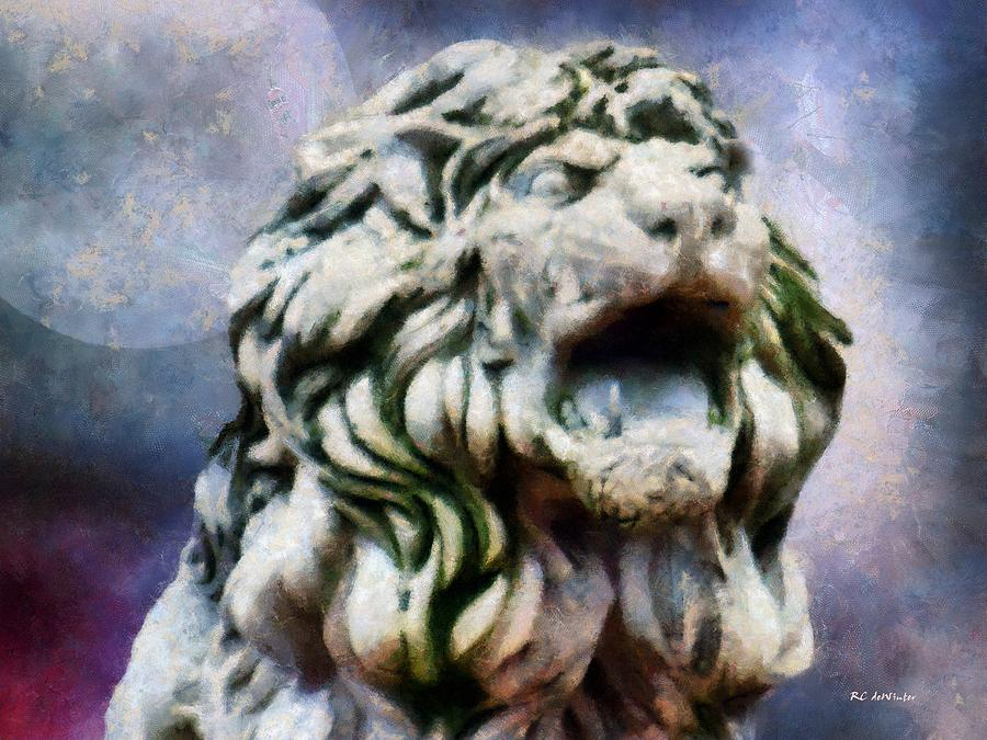 Lion Painting - King Of The Sky by RC deWinter