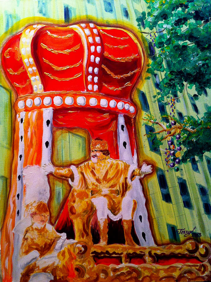 New Orleans Mardi Gras Painting - King Rex by Terry J Marks Sr