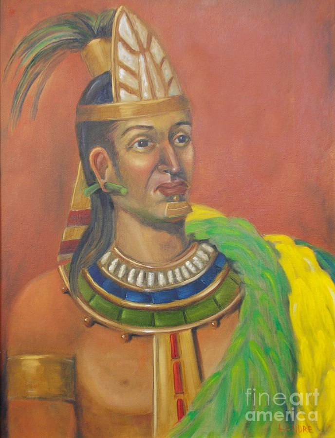 Aztec Painting - King Topiltzin by Lilibeth Andre