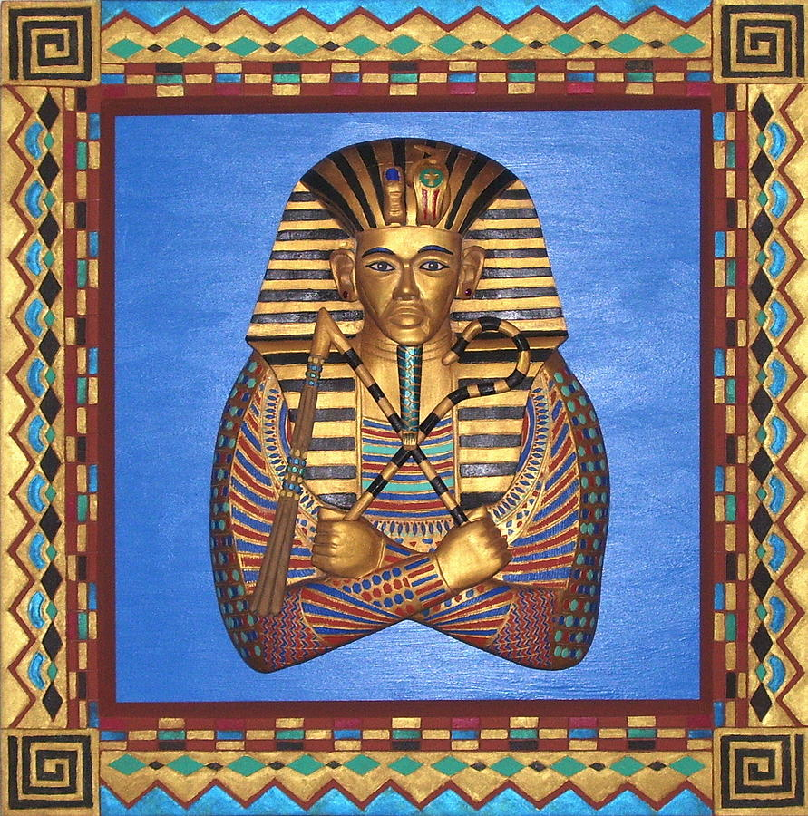 Handcrafted Mixed Media - KING TUT - Handcarved by Michael Pasko