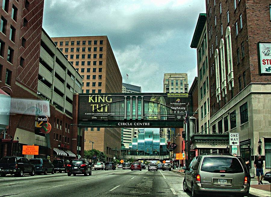 Downtown Photograph - King Tut In Indy by Julie Dant