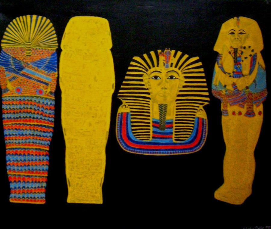 Egypt Painting - King Tut by Leslye Miller