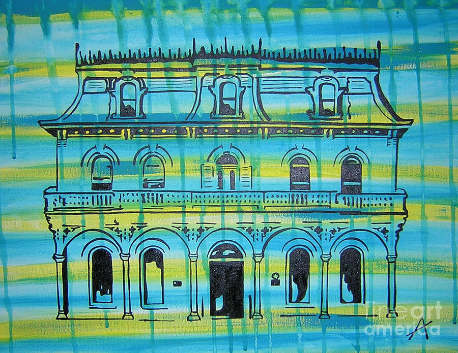 King William Steves Homestead Painting by Amanda Furr