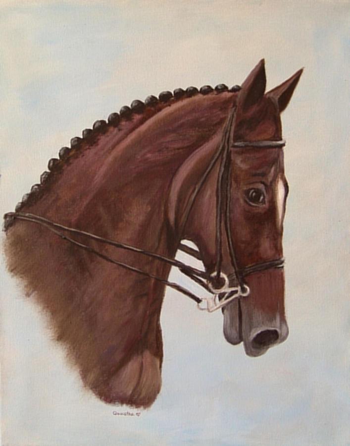 Horse Painting - Kingdazur by Quwatha Valentine
