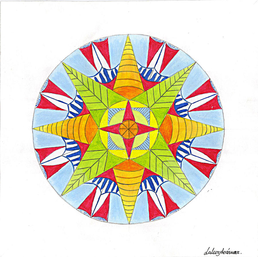 Mandala Painting - Kingdom Mandala by Silvia Justo Fernandez