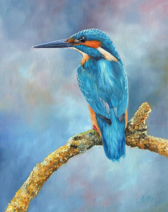 Kingfisher Painting By David Stribbling