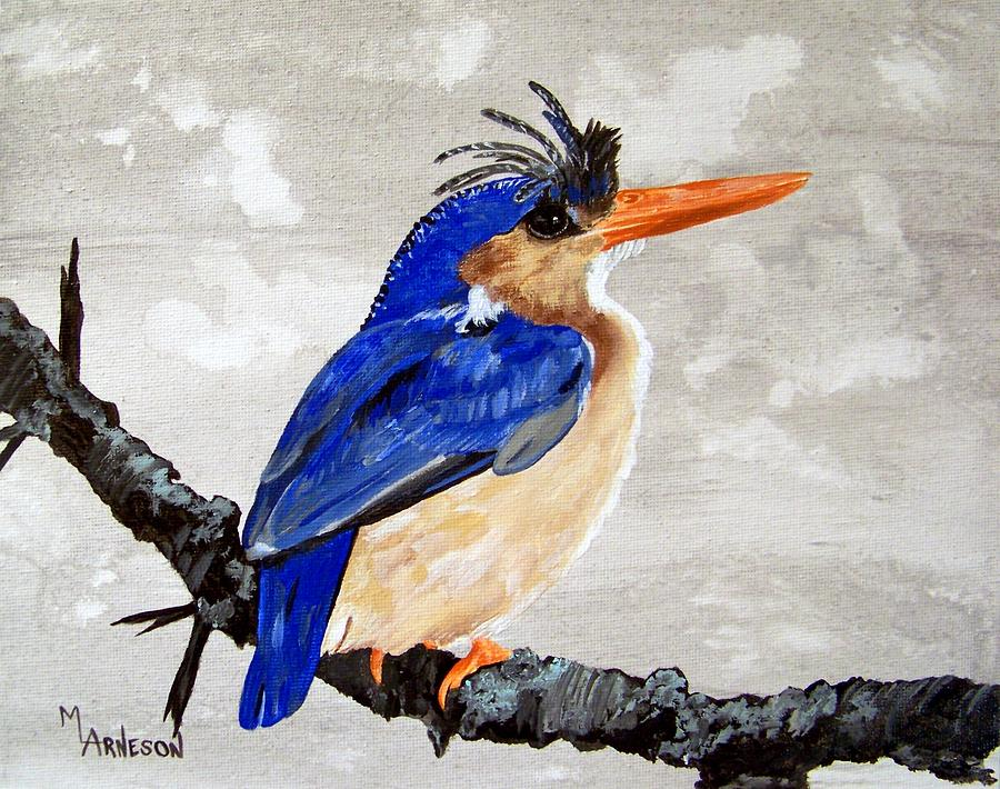 Kingfisher Painting - Kingfisher by Mary Arneson