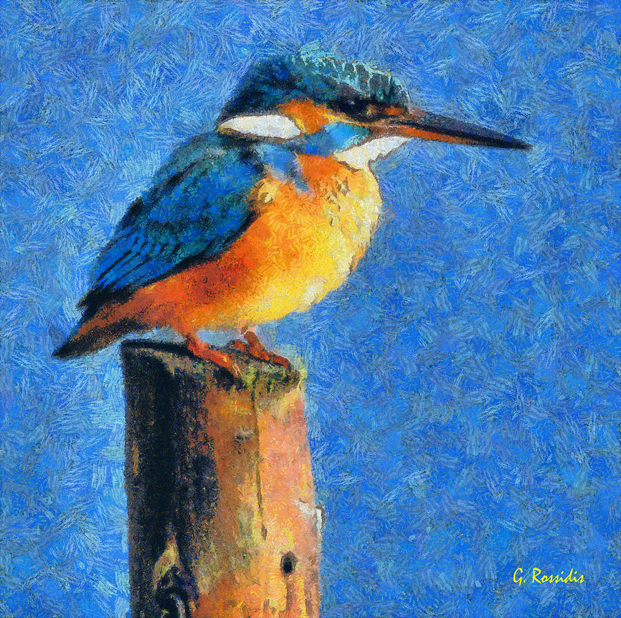 Rossidis Painting - Kingfisher The King by George Rossidis