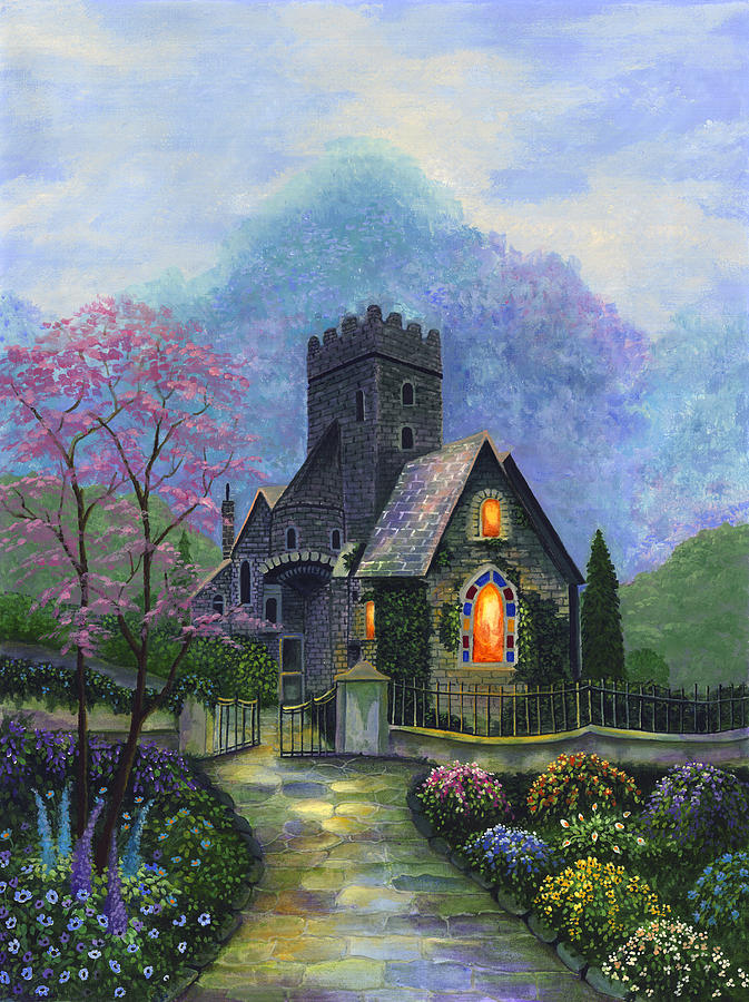 Church Painting - Kings Garden by Bonnie Cook
