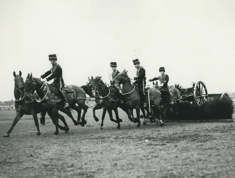 Retro Photograph - King�s Troop Of The R.h.a. Rehearse�. Even The Gun Goes by Retro Images Archive