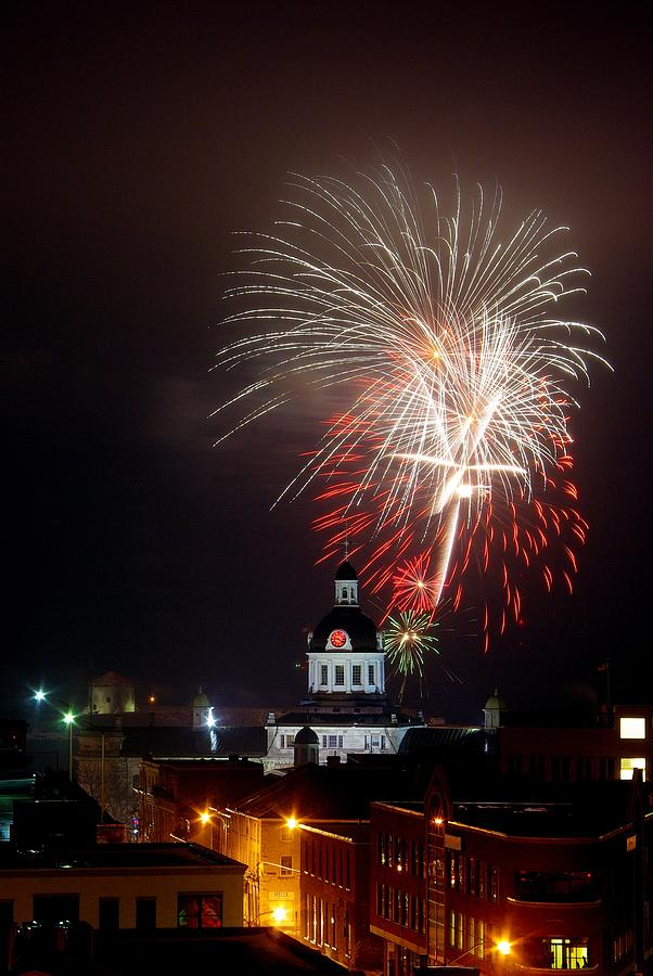 Kingston Photograph - Kingston New Years Eve Fireworks by Paul Wash