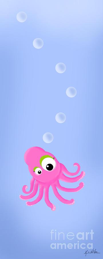 Octopus Digital Art - Kiniart Octopus by Kim Niles