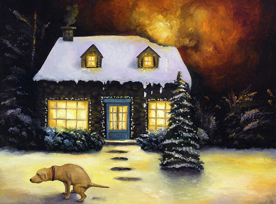 Kinkade Painting - Kinkades Worst Nightmare by Leah Saulnier The Painting Maniac