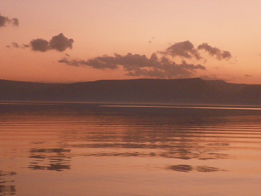 Sea Of Galilee Photograph - Kinneret Ripples At Dusk by Noreen HaCohen