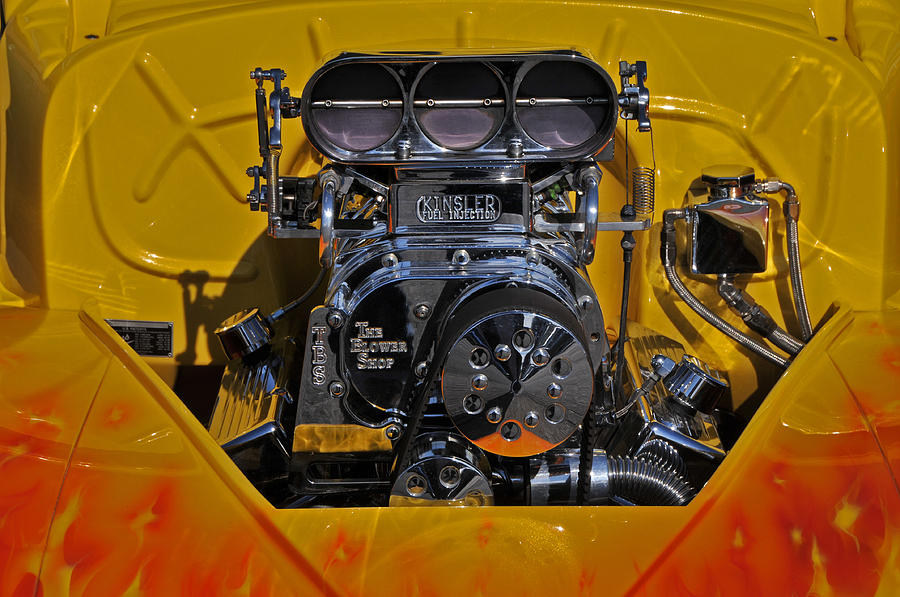 Engine Photograph - Kinsler Fuel Injection by Mike Martin
