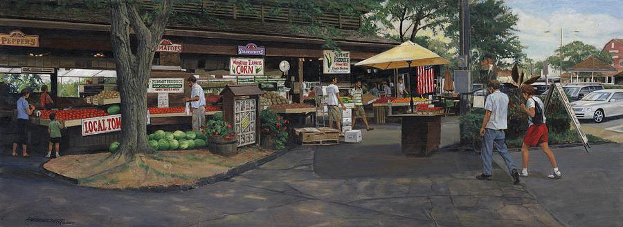 Painting - Kirkwood Farmers Market by Don  Langeneckert