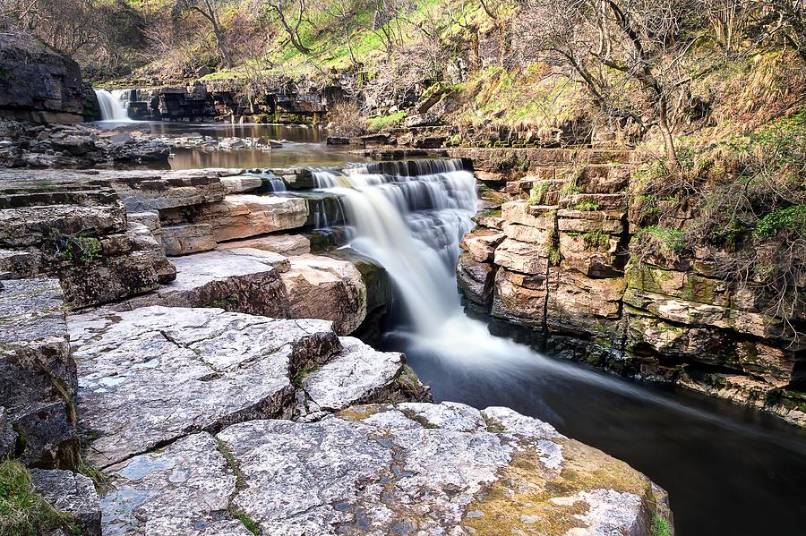 Pateley Bridge Photograph - Kisdon Force Waterfall by Chris Frost
