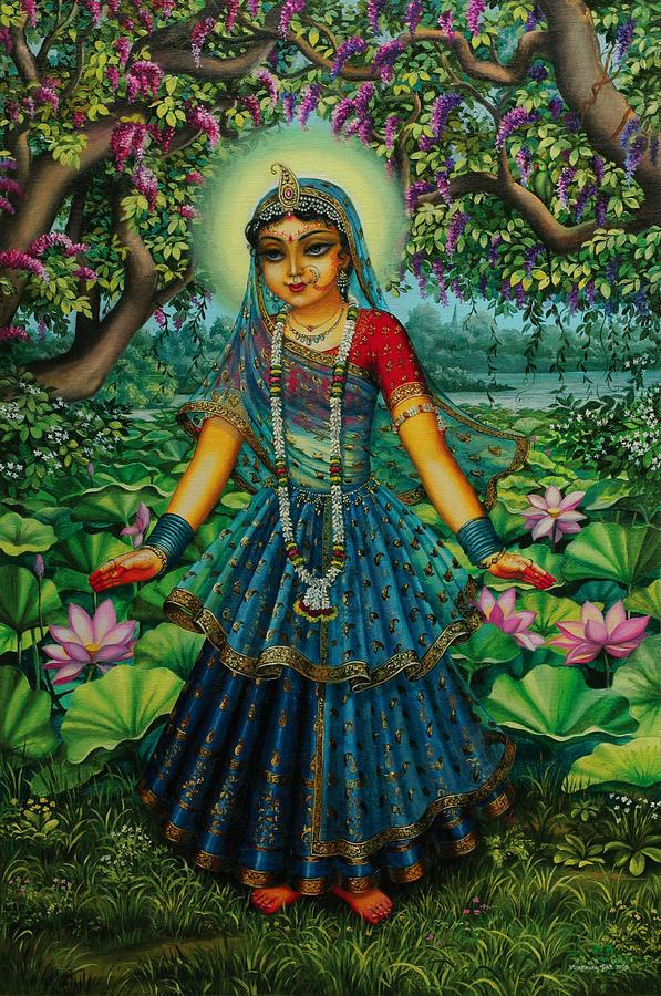 kishori radha painting by vrindavan das