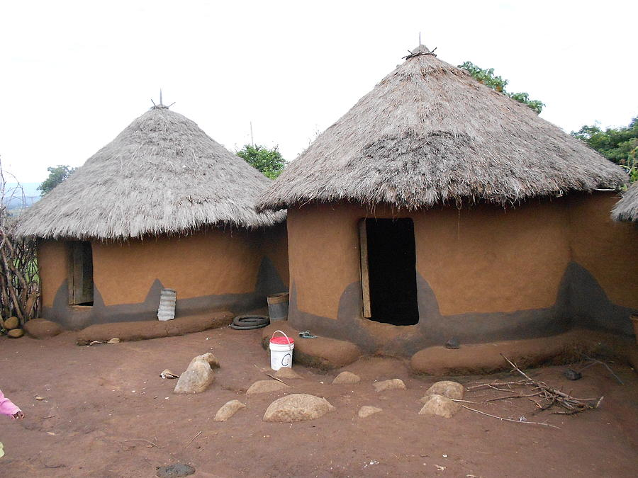 Kisii Tribe Grass Tatched House Photograph By Samuel Ondora