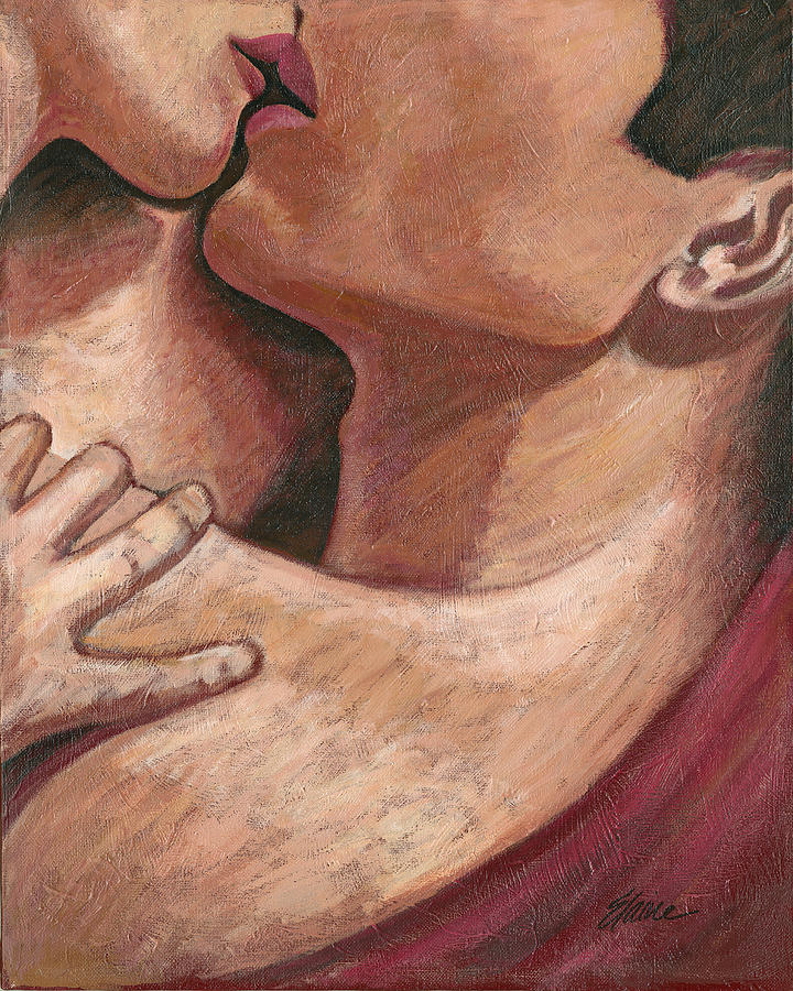 Love Painting - Kiss by Elaine Allen