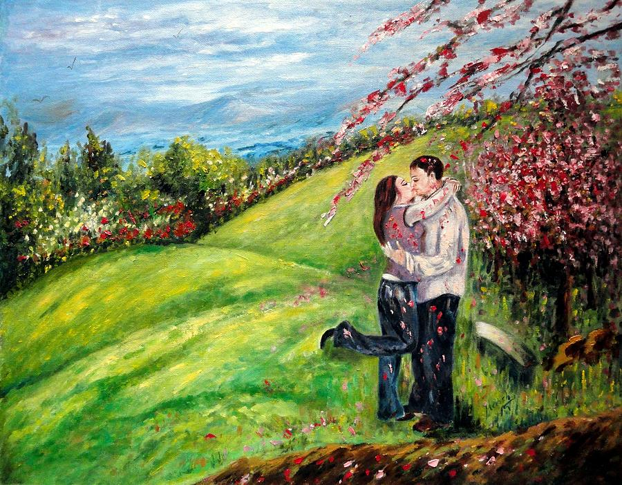 Love Painting - Kiss by Harsh Malik