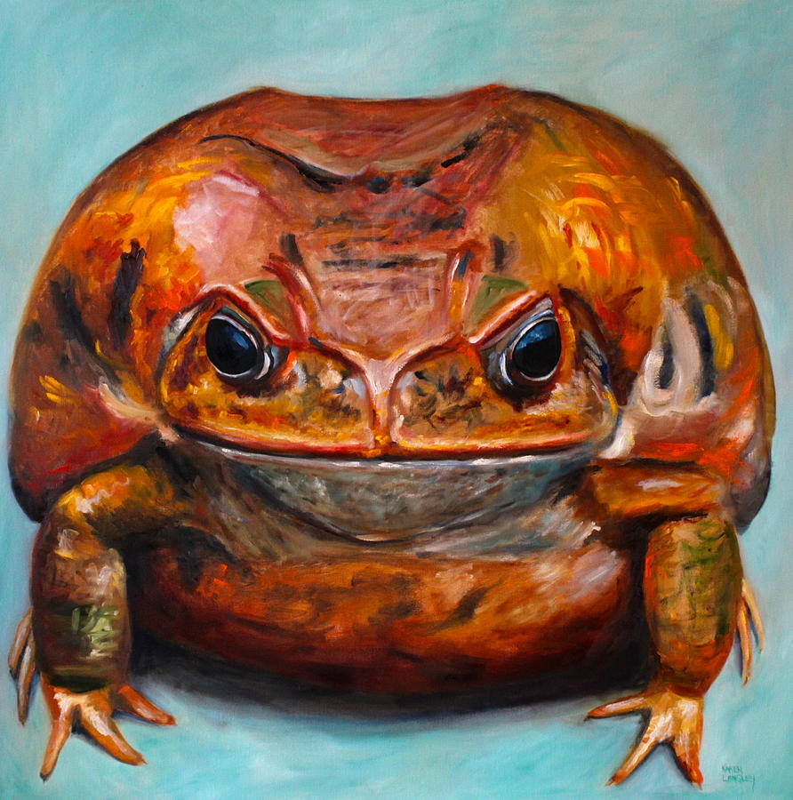 Toad Painting - Kiss Me by Karen Langley