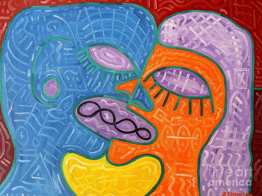 Kiss Painting - Kiss by Patrick J Murphy