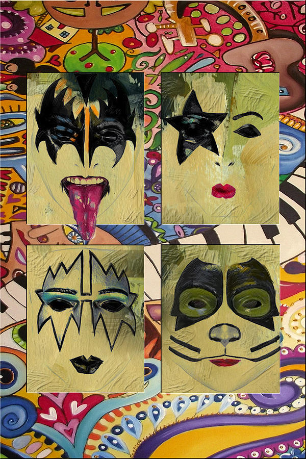 Kiss Painting - Kiss The Band by Corporate Art Task Force