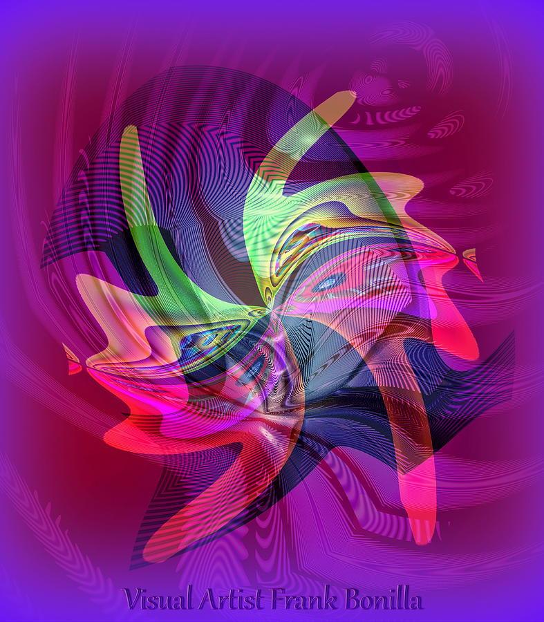 Kiss Digital Art - Kiss by Visual Artist  Frank Bonilla