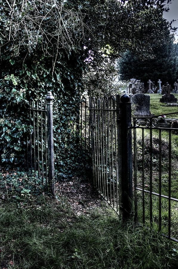 Spooky Photograph - Kissing gate  by Peggy Berger