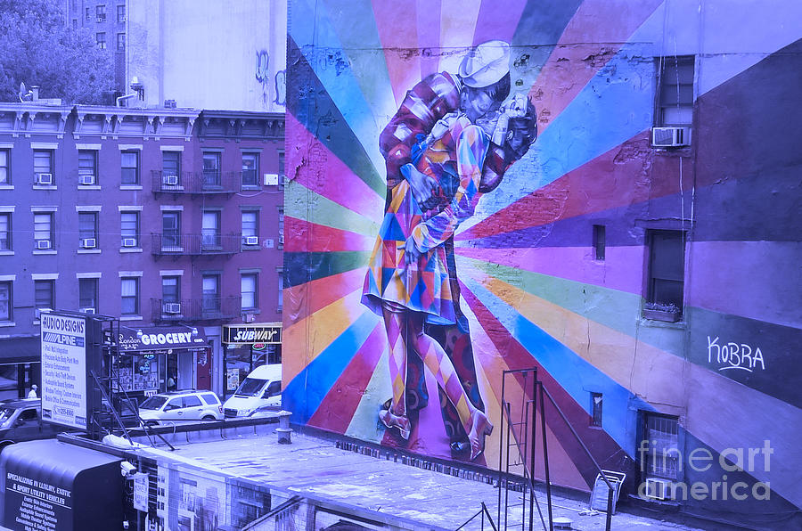 Kissing in NYC by Marguerita Tan
