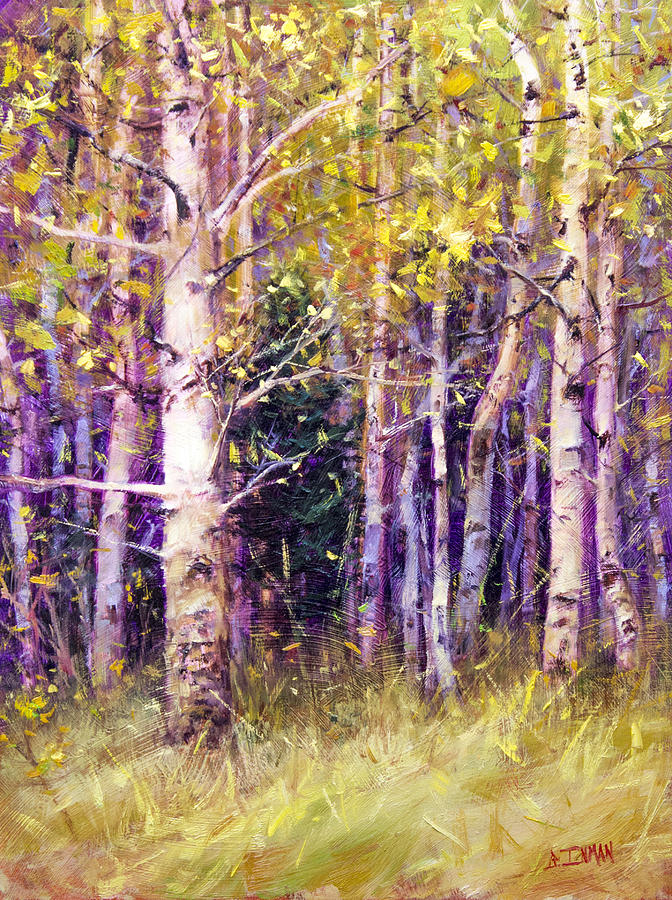 Beautiful Painting - Kissing Tree by Bill Inman