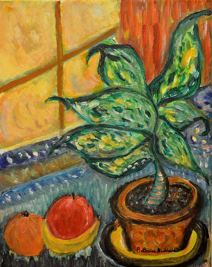 Plant Painting - Kitchen Company by Louise Burkhardt