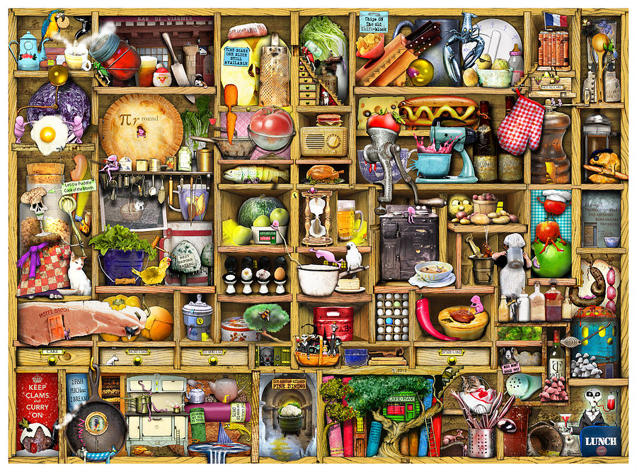 Confusing Digital Art - Kitchen Cupboard by Colin Thompson