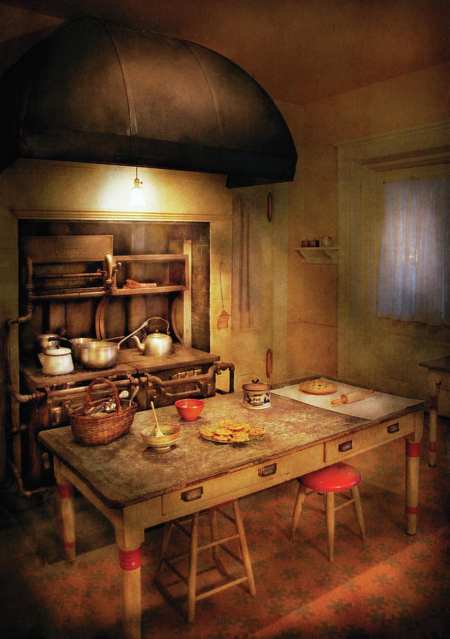 Savad Photograph - Kitchen - Grannys Stove by Mike Savad