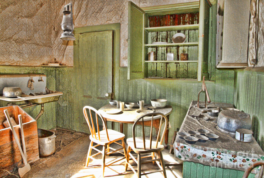 Kitchen In Bodie By Diana Sainz by Diana Raquel Sainz