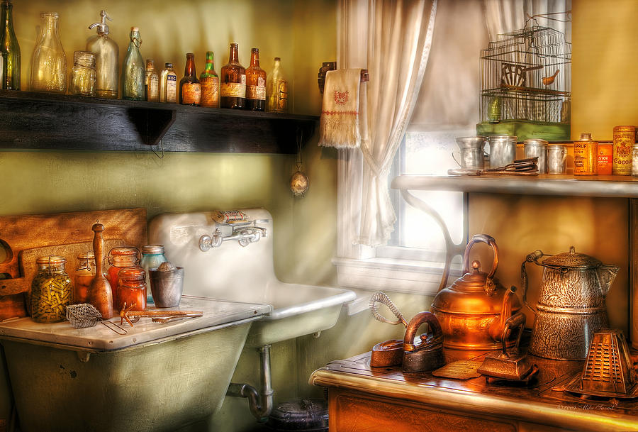 Chef Photograph - Kitchen - Mommas Kitchen  by Mike Savad