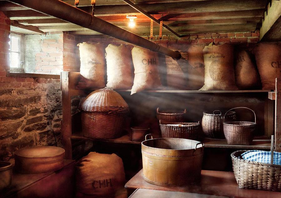 Self Photograph - Kitchen - Storage - The Grain Cellar  by Mike Savad