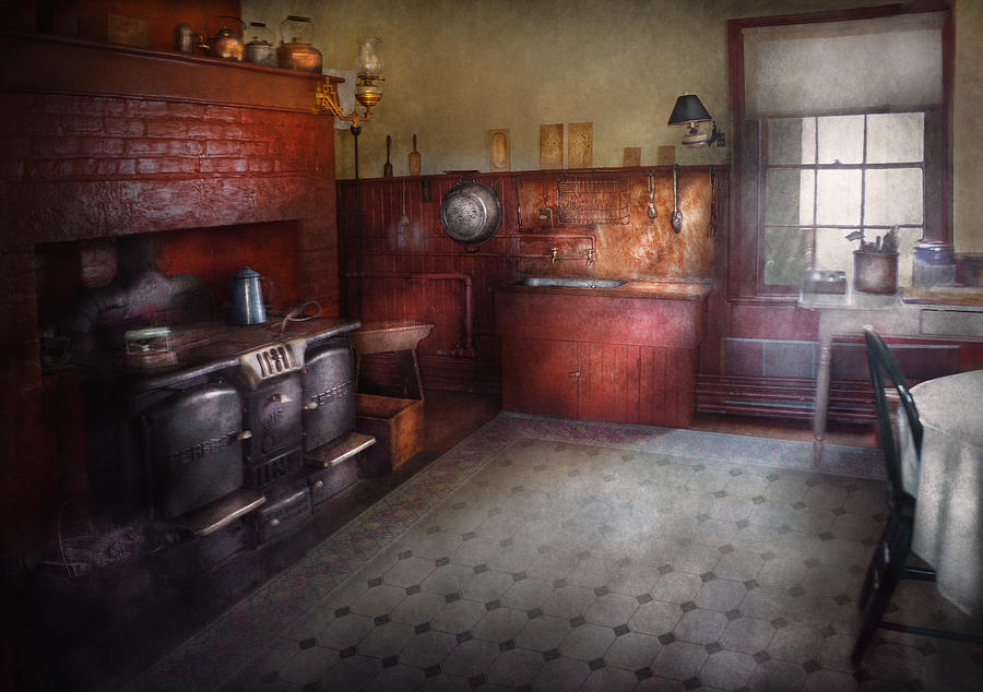 Kitchen Storybook Cottage Kitchen Photograph By Mike Savad
