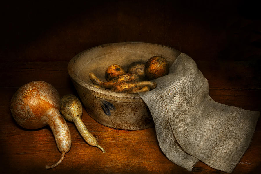 Chef Photograph - Kitchen - Vegetable - A still life with gourds by Mike Savad