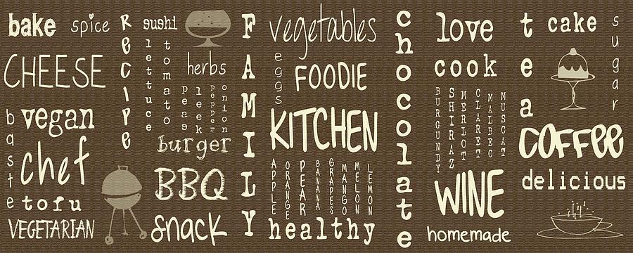 Kitchen Words Digital Art By Georgia Fowler