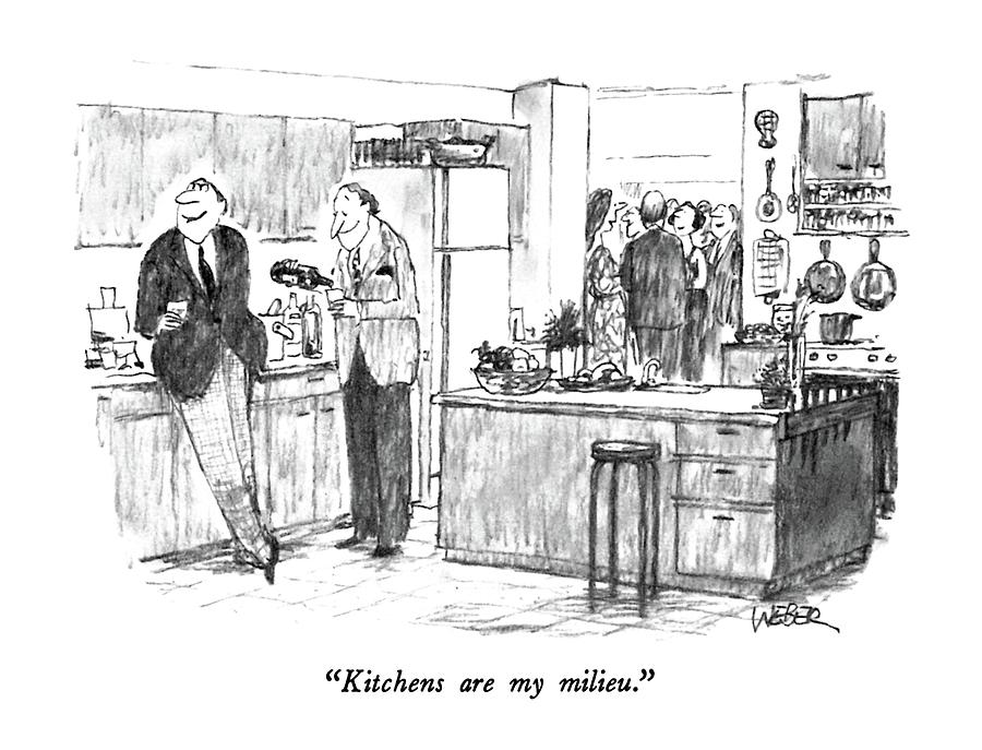 Kitchens Are My Milieu Drawing by Robert Weber