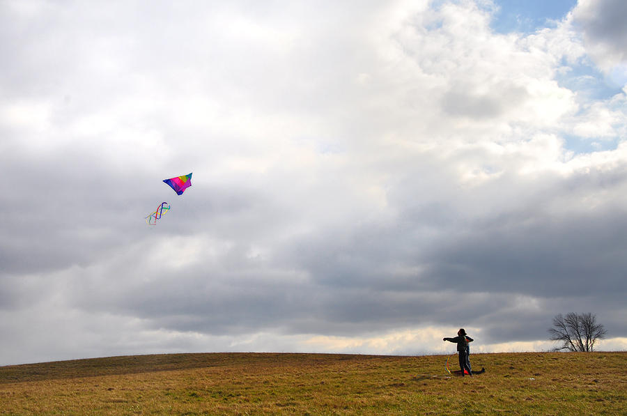 Kite Photograph - Kite Flying by Bill Cannon