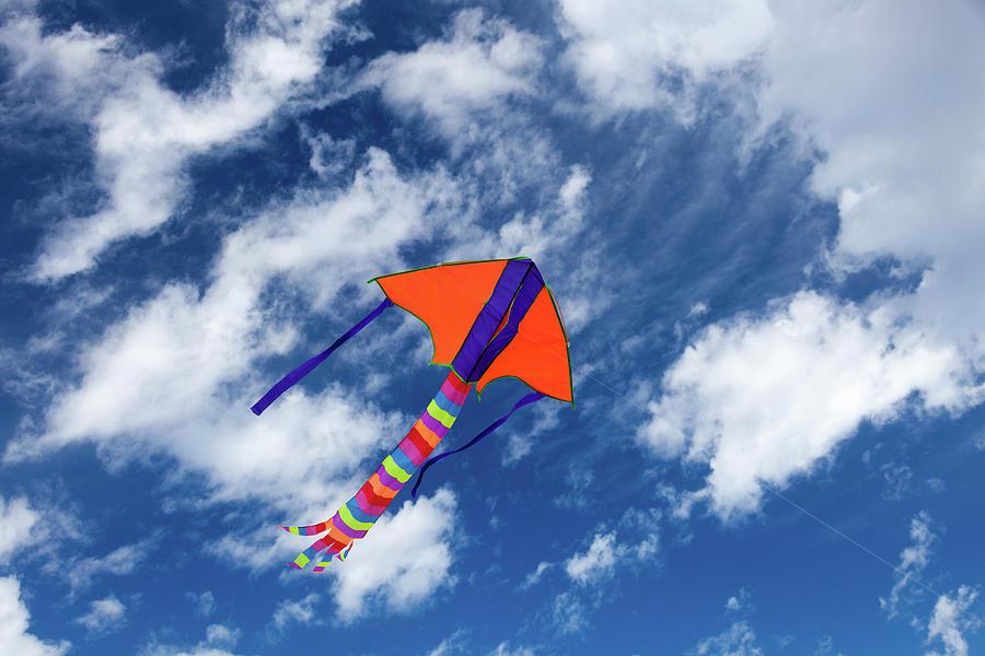Nobody Photograph - Kite Flying In Sky by Wladimir Bulgar